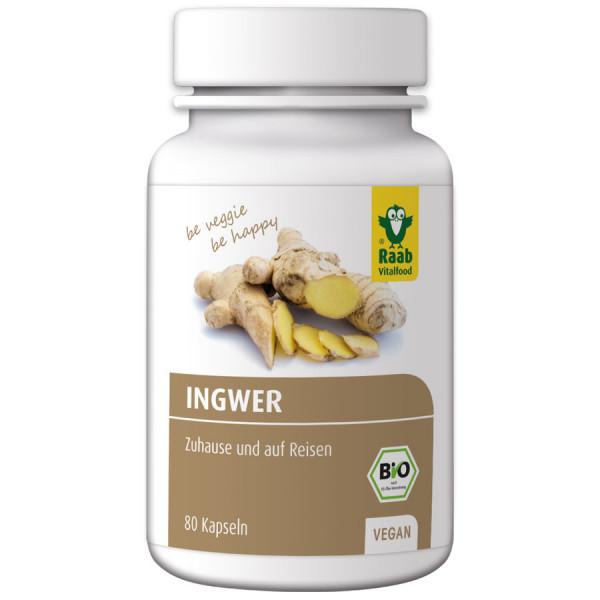 *Bio BIO Ingwer Kapseln, 80 Stk. à 400 mg (32 g) (32g) Raab Vitalfood
