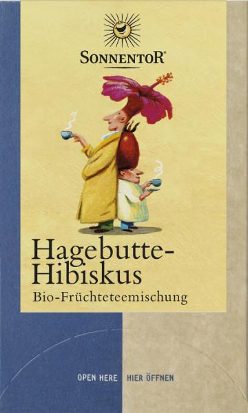 *Bio Hagebutte-Hibiskus Tee, Doppelkammerbeutel (54g) Sonnentor