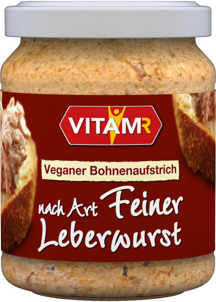 *Bio veganer Bohnenaufstrich nach Art Feiner Leberwurst (120g) VITAM