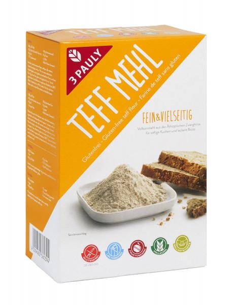 Teff Mehl glutenfrei 2x400g (800g) 3PAULY