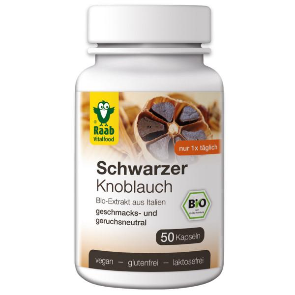 *Bio Bio Schwarzer Knoblauch Kapseln (25g) Raab Vitalfood