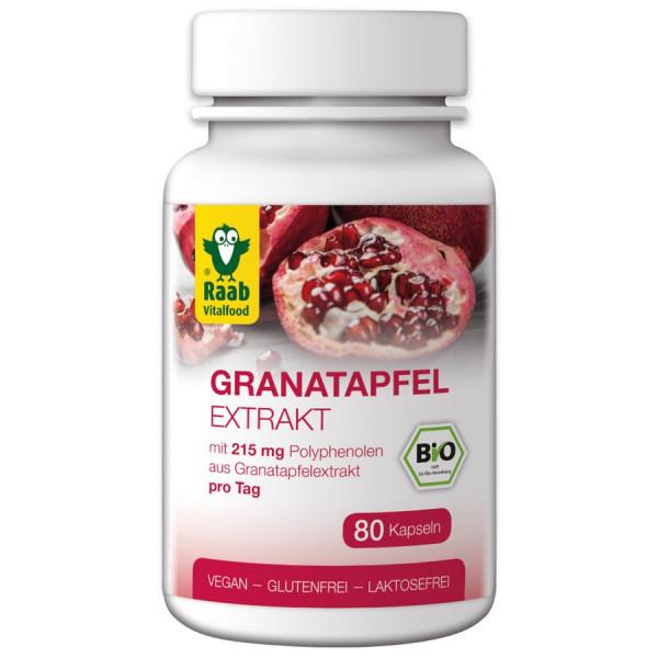 *Bio BIO Granatapfel Extrakt Kapseln 80 Stück à 530 mg (42,4g) Raab Vitalfood