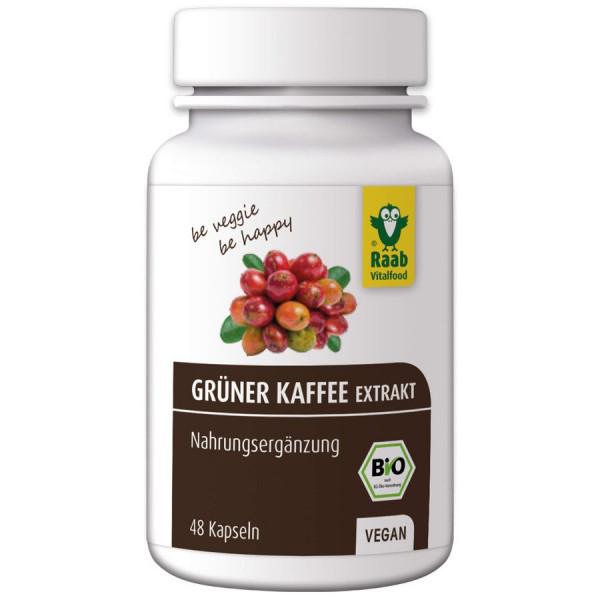 *Bio Bio Grüner Kaffee Extrakt Kapseln, 48 Stück (24g) Raab Vitalfood