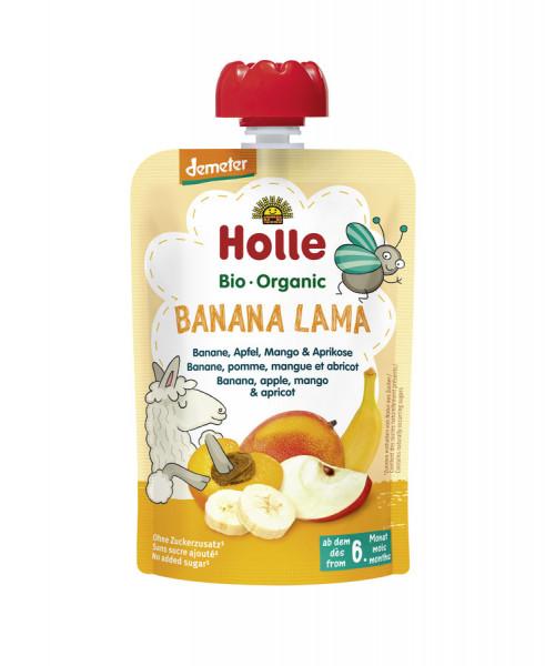 *Bio Banana Lama -Pouchy Banane, Apfel, Mango & Aprikose (100g) Holle