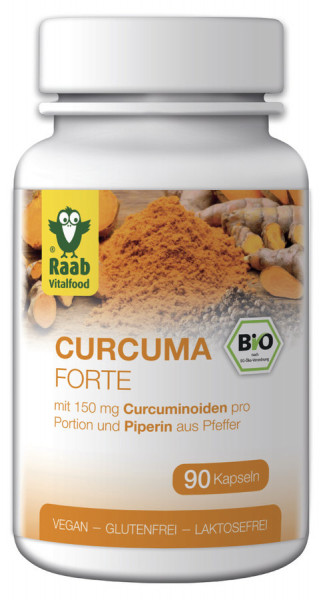 *Bio BIO Curcuma forte 90 Kapseln à 500 mg (45g) Raab Vitalfood