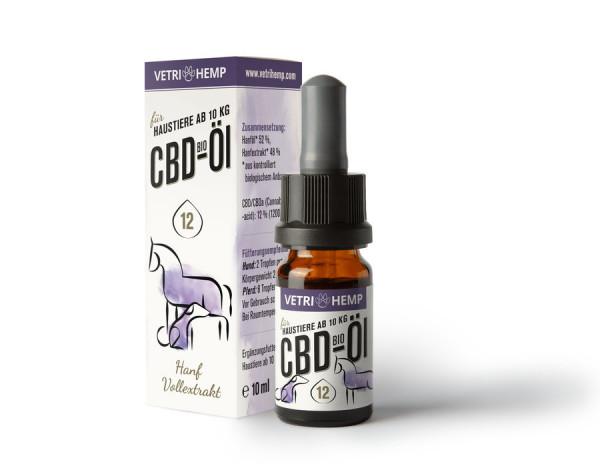 *Bio Bio CBD-Öl 12% für Tiere ab 10kg (10ml) VETRIHEMP