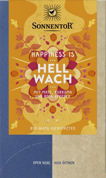 *Bio Hellwach Tee Happiness is®, Doppelkammerbeutel (30,6g) Sonnentor