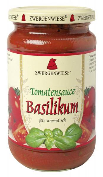 *Bio Tomatensauce Basilikum (340ml) Zwergenwiese