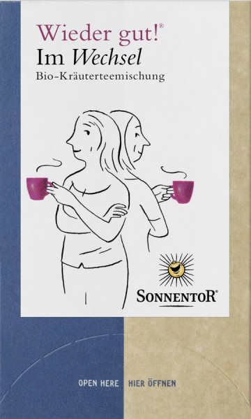 *Bio Im Wechsel Tee Wieder gut!®, Doppelkammerbeutel (27g) Sonnentor
