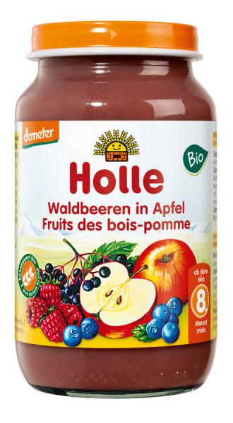 *Bio Waldbeeren in Apfel (220g) Holle