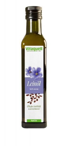 Lein-Öl nativ, kaltgepresst (0,25l) Vitaquell