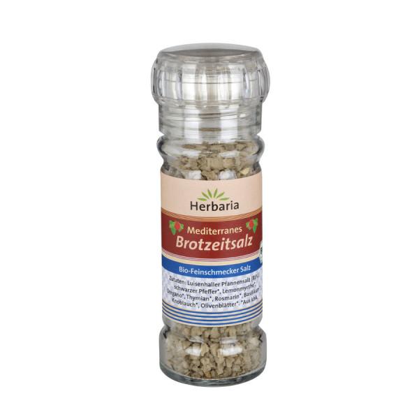 *Bio Mediterranes Brotzeitsalz bio Mühle (80g) HERBARIA