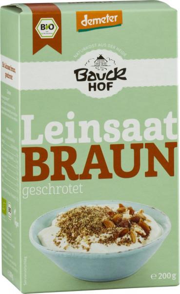 *Bio Leinsaat geschrotet Demeter (200g) Bauckhof