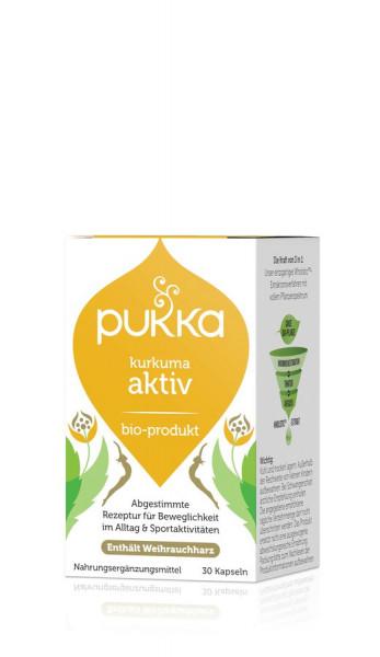 *Bio Kurkuma Aktiv 30 Vegetarische Kapseln Bio (30x0,50g) Pukka