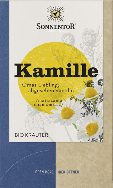 *Bio Kamille, Doppelkammerbeutel (14,4g) Sonnentor