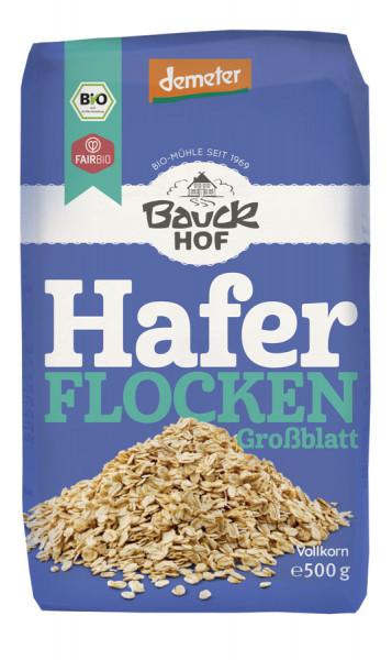 *Bio Haferflocken Großblatt Demeter (500g) Bauckhof