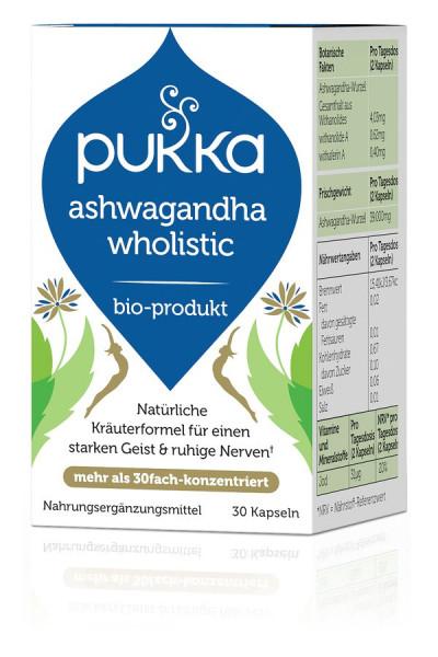 *Bio Ashwagandha Wholistic 30 Vegetarische Kapseln Bio (30x0,60g) Pukka