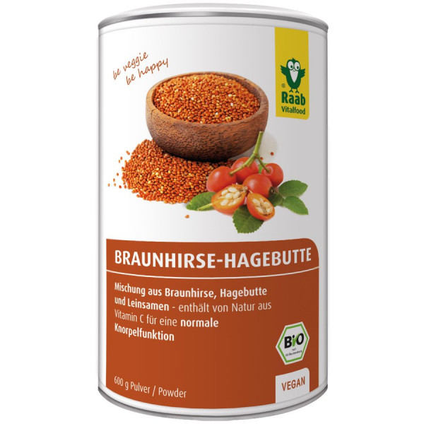 *Bio BIO Braunhirse-Hagebutte Mischung (600g) Raab Vitalfood