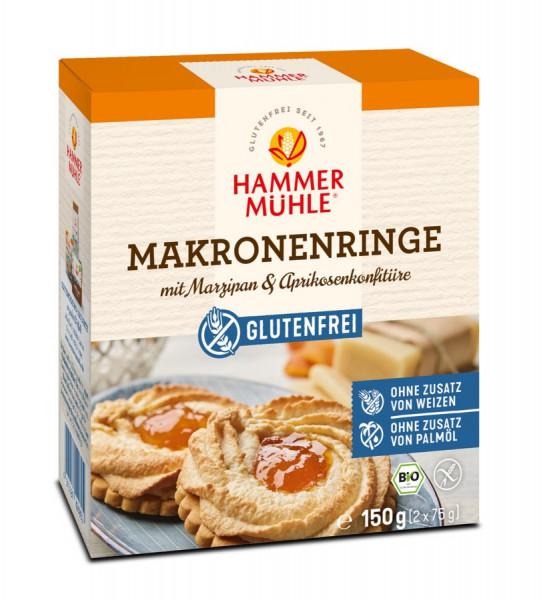 *Bio Bio Makronenringe mit Marzipan & Aprikosenkonfitüre gf (150g) Hammermühle