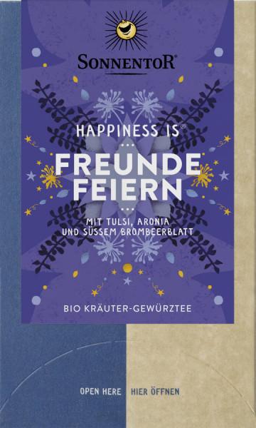 *Bio Freunde feiern Tee Happiness is®, Doppelkammerbeutel (27g) Sonnentor