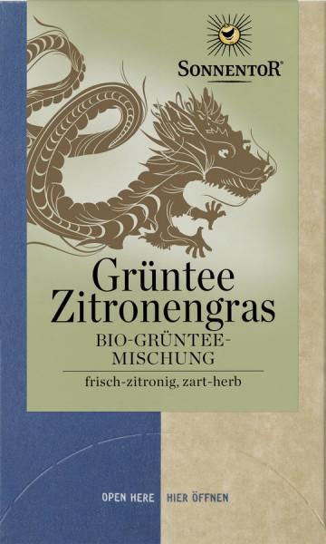 *Bio Grüntee-Zitronengras, Doppelkammerbeutel (21,6g) Sonnentor