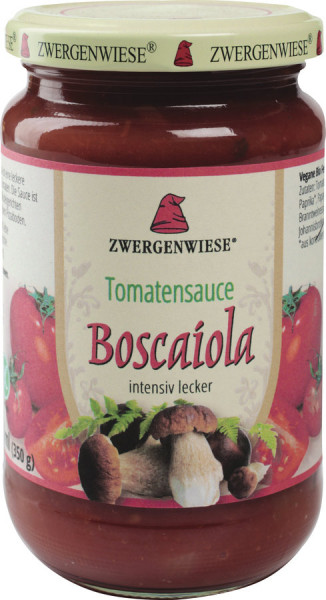 *Bio Tomatensauce Boscaiola (330ml) Zwergenwiese