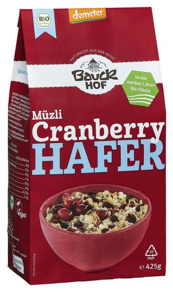 *Bio Hafer Müzli Cranberry Demeter (425g) Bauckhof