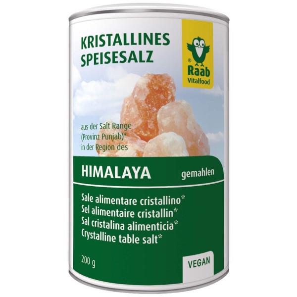 Salz gemahlen aus der Region des Himalaya - im Streuer (200g) Raab Vitalfood