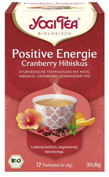 *Bio Yogi Tea® Positive Energie Cranberry Hibiskus Bio (17x1,8g) Yogi Tea® ,Yogi Tea GmbH