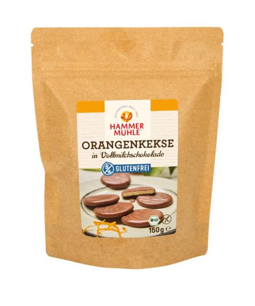 *Bio Bio Orangenkekse in Vollmilchschokolade gf (150g) Hammermühle