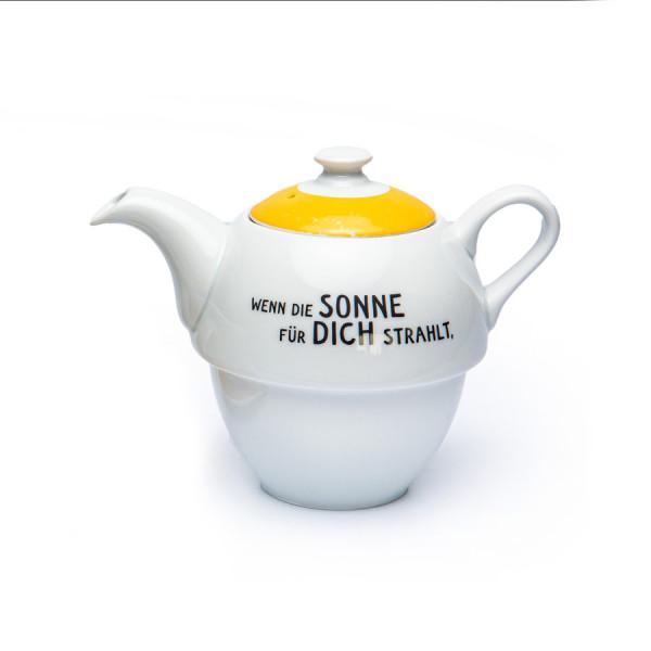 Porzellan-Tea for One Teekännchen mit Deckel (372g) Sonnentor
