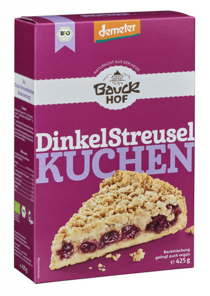 *Bio Dinkel Streuselkuchen Demeter (425g) Bauckhof