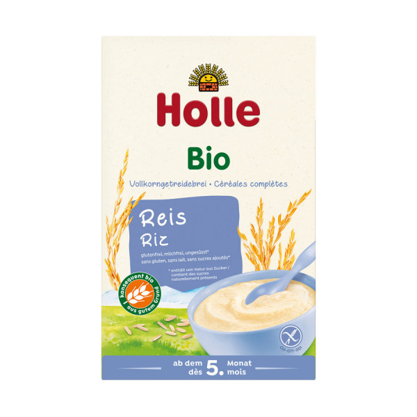 *Bio Bio-Vollkorngetreidebrei Reis (250g) Holle