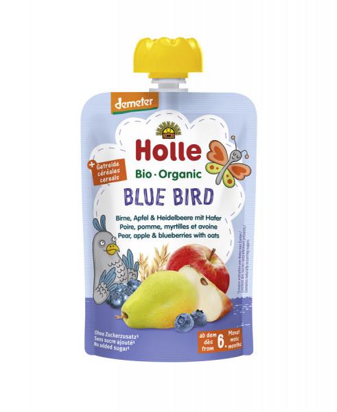 *Bio Blue Bird - Pouchy Birne, Apfel & Heidelbeer mit Hafer (100g) Holle