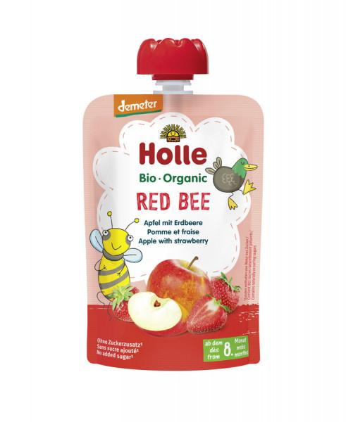 *Bio Red Bee - Pouchy Apfel, Erdbeere (100g) Holle