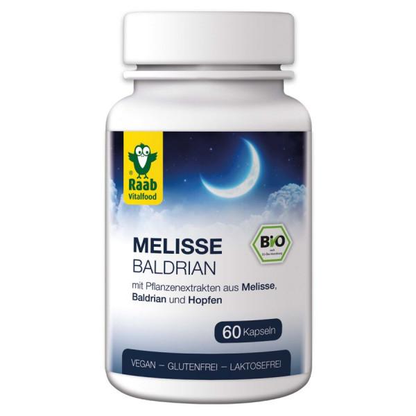*Bio BIO Melisse - Baldrian 60 Kapseln à 480 mg (28,8g) Raab Vitalfood