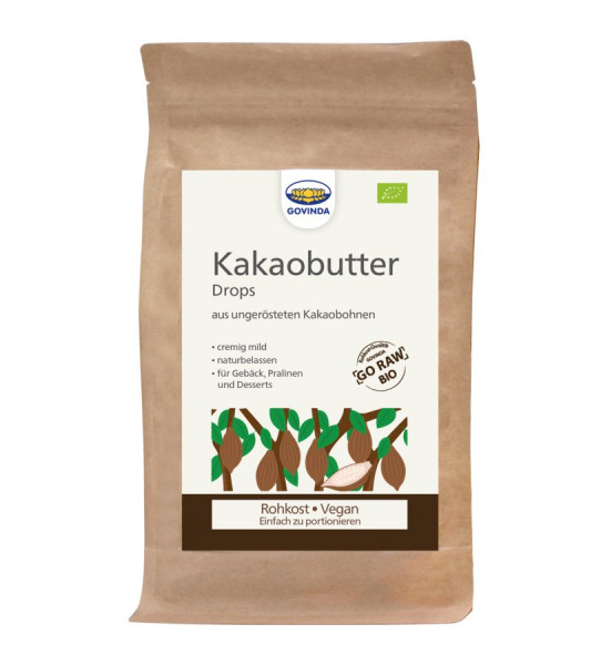 *Bio Kakaobutter, Rohkostqualität (200g) Govinda