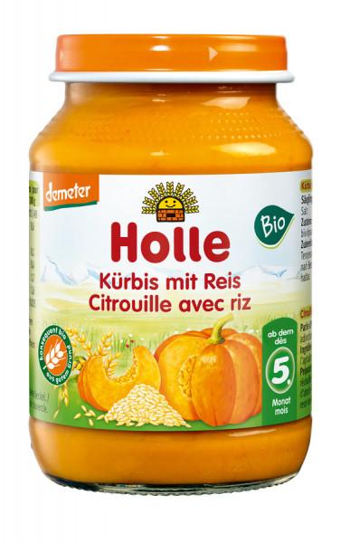 *Bio Kürbis mit Reis (190g) Holle