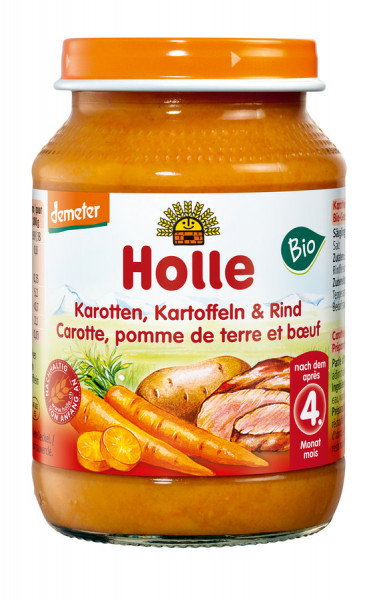 *Bio Karotten, Kartoffeln & Rind (190g) Holle