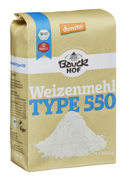 *Bio Weizenmehl Type 550 Demeter (1000g) Bauckhof