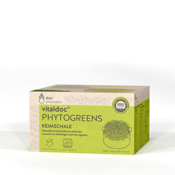 Keimschale Glas - 1Stk - vitaldoc® PHYTOGREENS