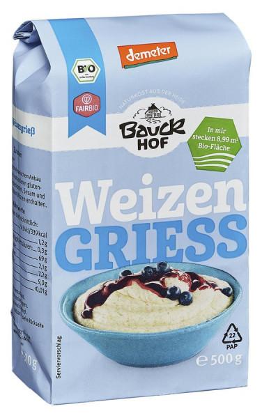 *Bio Weizengrieß Demeter (500g) Bauckhof