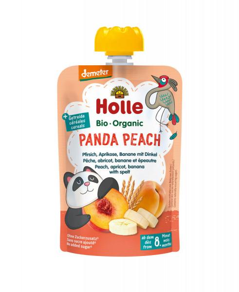 *Bio Panda Peach - Pouchy Pfirsich, Aprikose & Banane mit Dinkel (100g) Holle